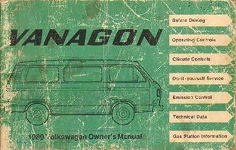Volkswagen Vanagon 1980 Owner's Manual