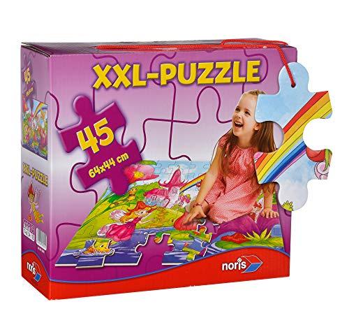 Noris 606038001 XXL Riesenpuzzle Willkommen im Feenland mit 45 Teilen (Gesamtgröße: 64 x 44 cm) - für Kinder ab 3 Jahren