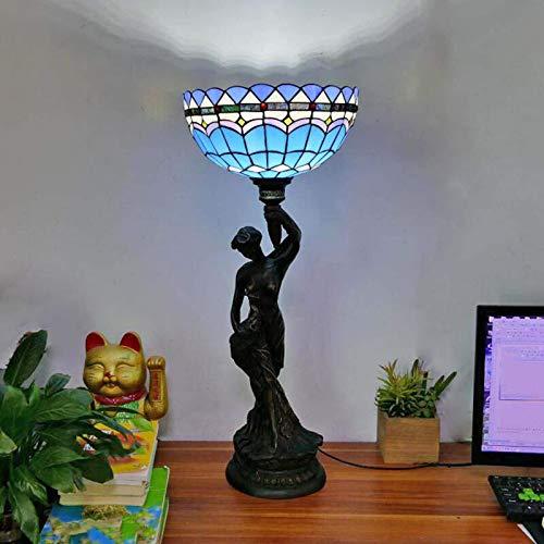DIMPLEY Tiffany Style Lámparas de Escritorio Creatividad Manchas de Vidrio Lámpara de Mesa Lectura Banquero Luz Sun Sun Shade para la Sala de Estar