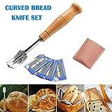 Juntful Brot Bäcker Messer Schnitt Werkzeug Teig Herstellung Rasiermesser Holzgriff Backblech