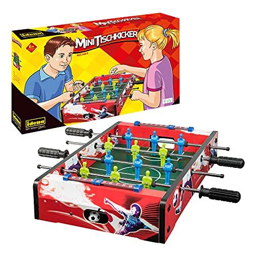 Idena 40173 Tischkicker mit 4 beweglichen Griffstangen, 12 Figuren und 2 Fußbällen, Größe ca. 50 x 50 cm, für spannende Spielrunden mit Freunden und Familie