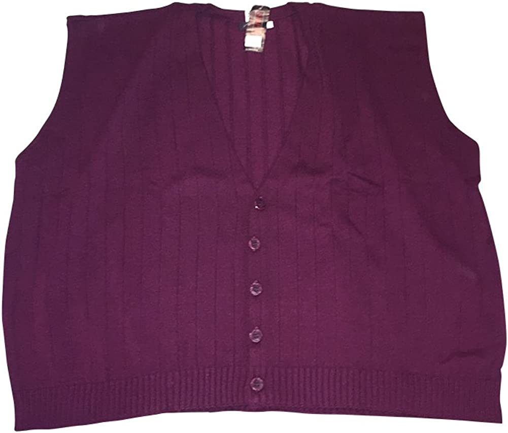 Megalos Big and Tall Acrylic Sleeveless Cardigan Sweater Vests