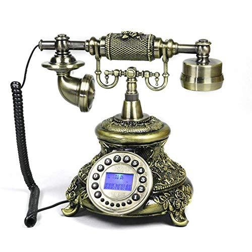 YUBIN Teléfono Teléfono Estilo Europeo Antiguo Teléfono Retro Línea Fija con Teléfono con Tarjeta de Llamada Free Free Free (Tamaño, L25CM * H26CM), L25CM * H26CM