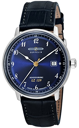 [ツェッペリン] 腕時計 Hindenburg ネイビー文字盤 7046-3 並行輸入品 ブルー