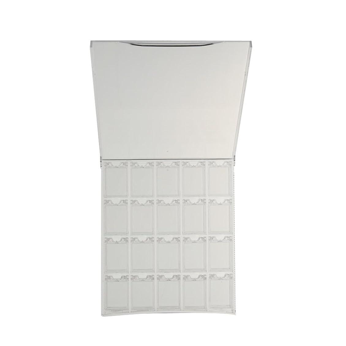 なめらか系統的立ち寄るCUTICATE 空のプラスチック製のネイルアートケースグリッターパウダーディスプレイボックス容器ホルダーケース