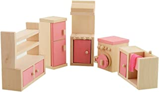 Dreams-Mall Wooden Doll House Furniture Set Toy for Baby Kids –Kitchen Room