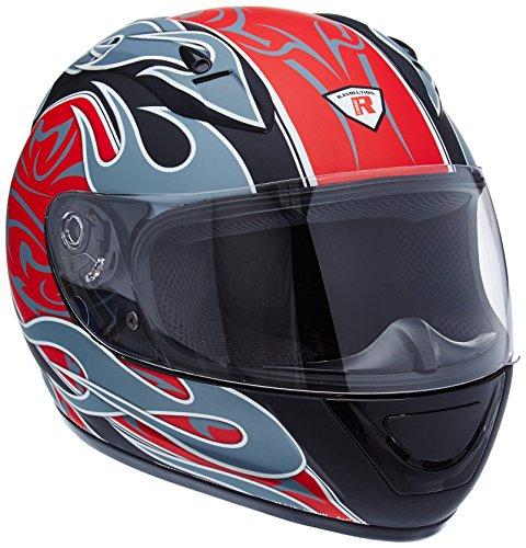 Bottari Motorradhelm Extreme, Integralhelm, Rubber Black/Red, Größe S