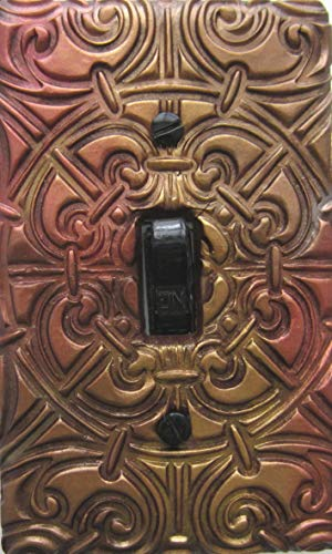'Donegal' single standard light switch plate for home decor accessories. Decorative light switches. Hand textured Celtic design.