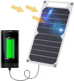 comprar comparacion Zuukoo Cargador Solar, 10W 5V Panel Solar Portátil Batería Externa Power Bank con Puerto USB Cargador Móvil para Teléfonos...