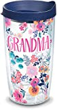 Tervis Grandma Dainty Floral Insulated Tumbler with Wrap and Lid, 16 oz - Tritan, Clear