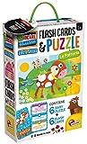 Liscianigiochi- Giocare Educare, Life Skills Baby Puzzle e Flash Cards La Fattoria, 72699...