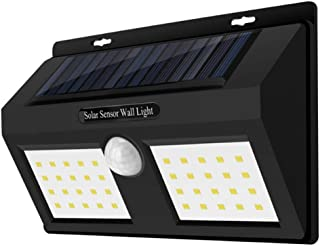 LED Solar Wall Light 40 Lights Lithium Battery Rechargeable Waterproof Human Body Infrared Sensor Light Energy Saving and ...