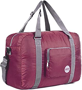 Wandf Foldable Sports Gym Water Resistant Nylon Travel Duffel Bag