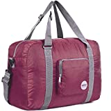 WANDF Foldable Travel Duffel Bag Super Lightweight for Luggage, Sports Gear or Gym Duffle, Water...