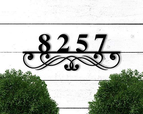 Tamengi Custom Metal Address Sign, Address Numbers for House, Address Plaque, House Number Plaque Metal Address Numbers Address Plaque House Numbers
