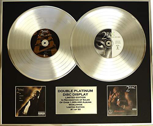 EC 2PAC /Zweifache Platin Schallplatte Display/Limitierte Edition/COA/ME Against The World & All Eyez ON ME