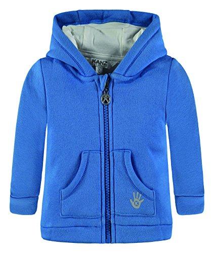 Kanz Baby Sweatshirt Sweatjacke M. Kapuze 1/1 Arm Blau (Strong Blue 3083), 62