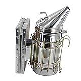 HanSemay Edelstahl Smoker Imkerei, Smoker Imkereibedarf Elektro Smoker Imkerpfeife Bienen Tool (236)