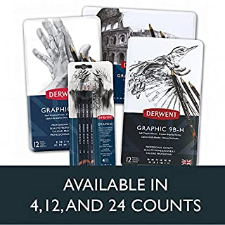 ارخص مكان يبيع Derwent Graphic Drawing Pencils, Medium, Metal Tin, 12 Count (34214)