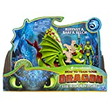 Dreamworks Dragons, Ruffnut and Barf & Belch, Dragon with Armored Viking Figure, for Kids Aged 4 and Up