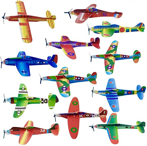 48 Planeadores Voladores de Aviones de Papel| Fácil de Montar, Resistente y Ligero| Avión Juguetes para Niños Cumpleaños, Premios Juego Halloween Navidad Bolsas Fiesta Sorpresas Regalo Infantiles.
