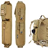 WYNEX Tactical Molle Accessory Pouch, Backpack Shoulder Strap Bag Shoulder Tape Additional Bag Multifunctional Hunting Tools Pouch (Khaki (Upgraded) - 2 Packs)