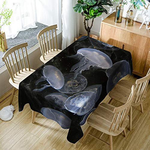 BWBJJ Rectangular Manteles Medusa , 3D impresión Impermeable Manteles, Mantelerias Antimanchas Lavable, Decoracion Mantel de Mesa, para Cocina Salón Comedor 140x160 cm