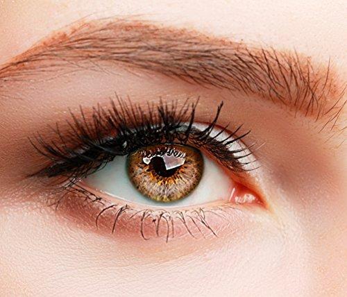 Farbige Kontaktlinsen SUPREME BRAUN HASELNUSS ohne Stärke BESONDERS NATÜRLICH