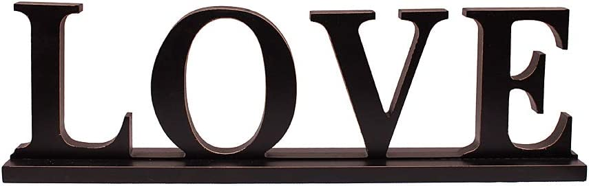 Max Max 60% OFF 84% OFF Love Sign for Home Decor Table Rustic Letters Wooden Block