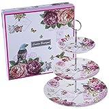 Kuchenständer mit zwei Etagen 22x26 Bird Rose Butterfly