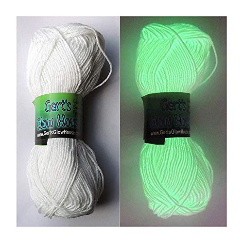 2 Rolls Glow in The Dark Yarn - 120 Yards per roll - Fingering Weight