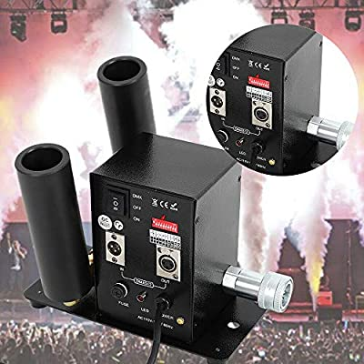 Double Pipe Co2 Jet Machine? DJ Stage Lighting Disco Magic Effect Fog Machine KTV for DJ Club Party Concert Stage CO2 Column Jet Machine Smog Maker Fog Machine US