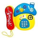 LYY Interesante Fun Education Fun Toy Toy Simulation Teléfono Baby Landline Baby Teléfono móvil 1-3 años de Edad Música Puzzle Educación temprana Chicos y niñas (sin batería) Interacción Familiar