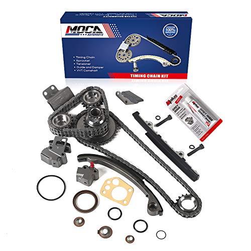 MOCA Timing Chain Kit for 1991 1992 1993 1994 1995 1996 1997 1998 1999 for NISSAN 240SX 2.4L L4 DOHC 16 Valve KA24DE Engine