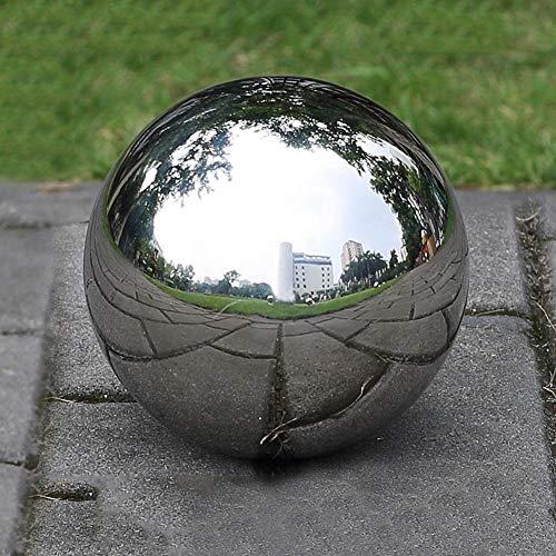LuukUP 1 Pieza Bola Hueca-Hueco de Acero Inoxidable sin Fisuras Bola de Espejo Esfera-esferas pulidas Brillantes Bolas de Globo Huecas Lisas-para Decorar el jardín en casa (D?80mm)