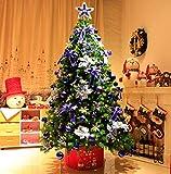 FTFTO Attrezzatura Vivente Decorazione Artistica Albero di Natale con Decorazioni Assseeories Luce a LED per Camera da Letto e Ornamentale per Esterni 1123 (Colore: 1,5 m)