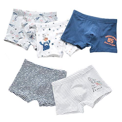 Kinder Junge 5 Pack Pantys Boxer Unterhose Cartoon Print Panty Unterwäsche Schlüpfer Boxershorts 3-4 Jahre