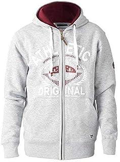 D555 Mens Sweatshirt Duke Big King Sizes Zip Hoodie Top Fleece Lined Winter New
