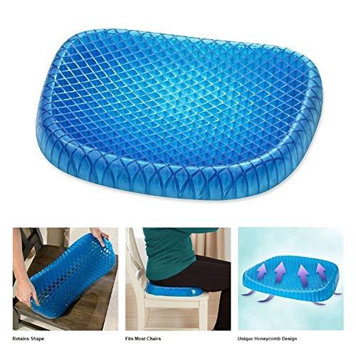 ZYDJ GHC Grid Mesh Gel Memory Foam Cushion para Ropa De Cama Ergonomics Breathable Honeycomb Diseñado Soft Gel Pad,Cojín De Coxis Ortopedico,Estera De Enfriamiento De Verano