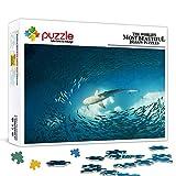 Rompecabezas de 300 piezas Pacific SharkAnimal set puzzleAnimal juguete rompecabezas juego de entretenimiento juguete decoración de la pared pintura 38x26cm