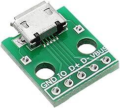 Ils - 5uds Micro USB A Dip Hembra Socket Tipo B Micrófono Parche 5P A Dip 2.54mm Pin con Tablero Adaptador de Soldadura