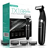 VOYOR Tondeuse à barbe pour hommes Tondeuse électrique pour tout le corps et rasoir Tondeuse à cheveux sans fil Rasoirs professionnels pour cheveux secs et mouillés, étanches TX100