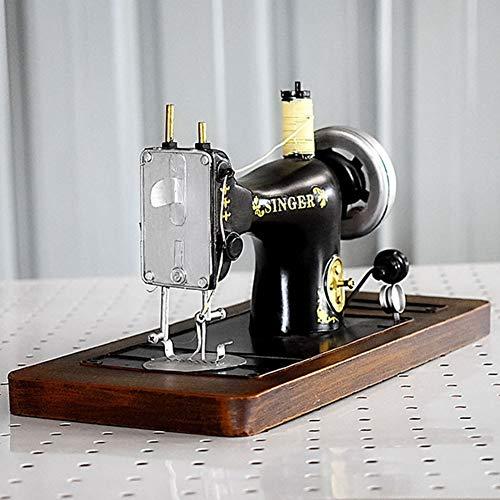 WNTHBJ Retro ouderwetse simulatie ijzerwerk, oude naaimachine model decoratie, huisdecoratie ambachten fotografie rekwisieten