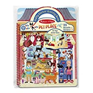 Melissa & Doug Pet Place Puffy Sticker Activity Book (Reusable Puffy Sticker Play Set, 10 Pages, 115 Stickers)