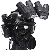 AQzxdc Heavy-Duty Tactical Helmet Set, with Paintball Mask & Night Vision Model & Soundproof Headphones, Outdoor Airsoft Game Protective Gear, with Aluminum Alloy L4G24 NVG Mount,Sets f