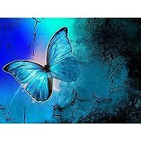 5D DIYダイヤモンド塗装 森の蝶の針仕事DIYダイヤモンド絵画クロスステッチダイヤモンド刺繡家の装飾5Dモザイク 30 * 40cm