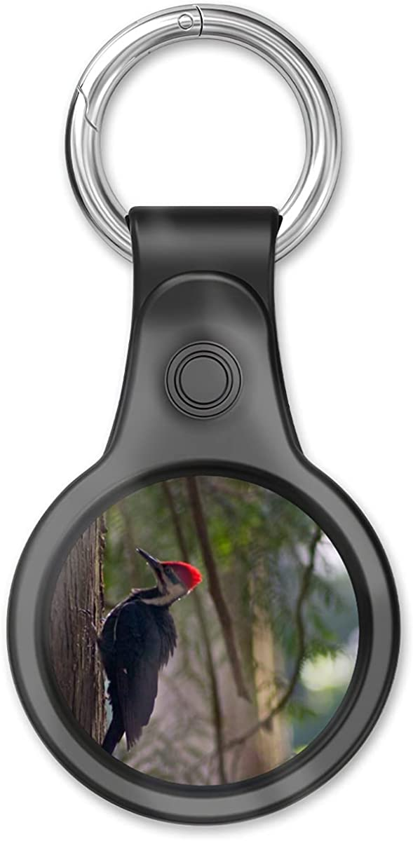Cover Case Compatible With Airtags Finder, Airtag Tracker Red Key Chain Crest Home In Location The Air Tags Early Item Morning Light... Keychain Accessories With Anti-loss Design