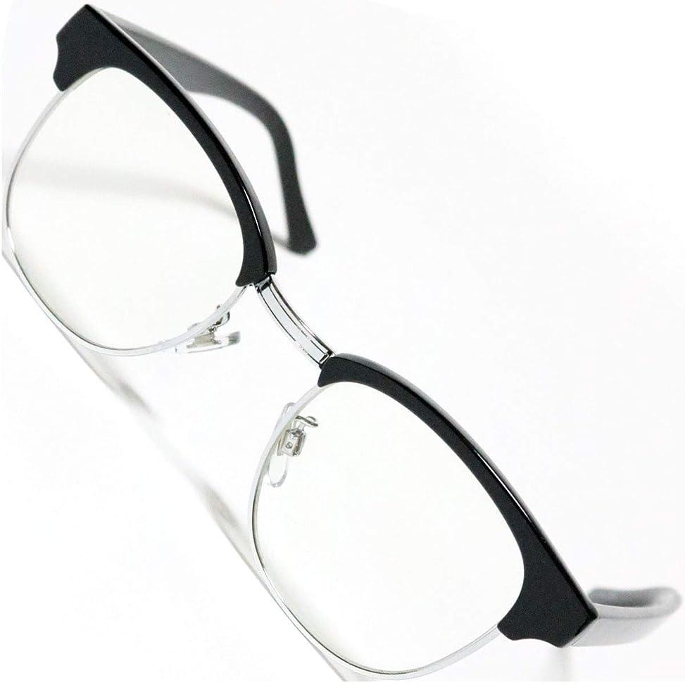 溶融化粧玉ねぎ[Berkut] [2019モデル] 伊達メガネ 透明レンズ スクエア 軽量 疲れにくい 目にやさしいレンズ 1040169