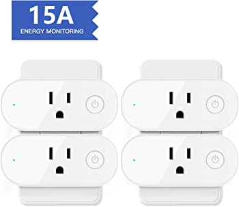4-Pack Aoycocr 15A Wifi Outlet Work With Alexa Google Home