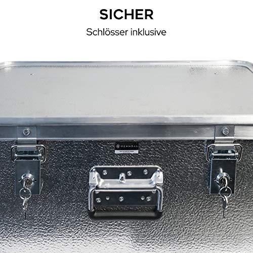 Alubox mit Deckel abschließbar - Alukiste Hemmdal PRO - Alu Box (42 L) groß - Profi Transportkiste - Transportbox Made in Germany - 5